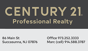Century 21 Professional Realty in Succasunna. We specialize in Poets Peak and Hunter's Ridge!