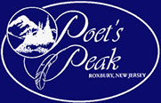 Logo for Poets Peak, a neighborhood of lovely Colonials in the Ledgewood section of Roxbury Twp in New Jersey.